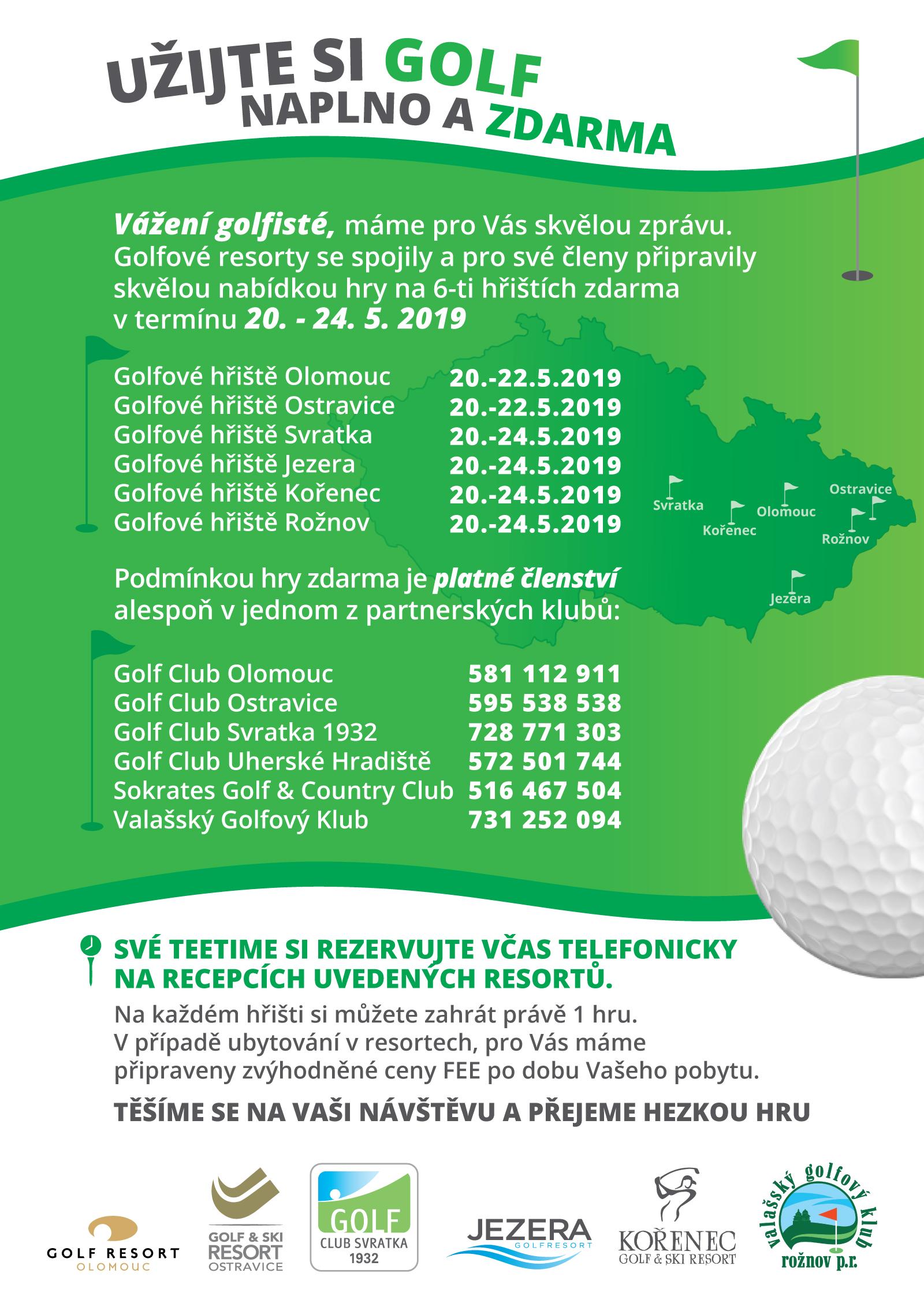 Krosoj - golf naplno a zdarma
